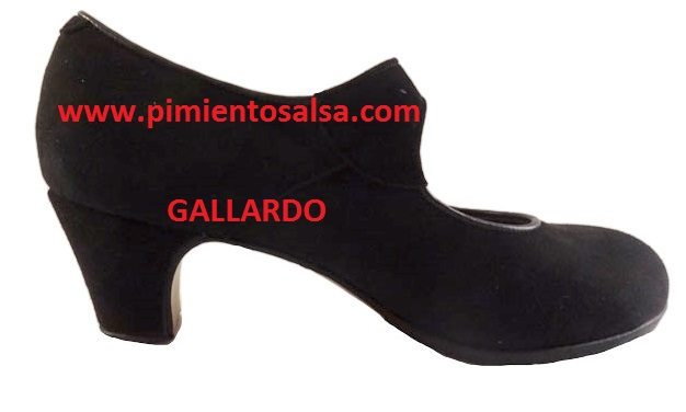 Zapatos Ante Mod Duende Flamenco De Gallardo Negro LRj354A