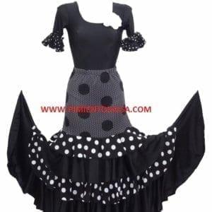 Falda de mujer para el baille flamenco