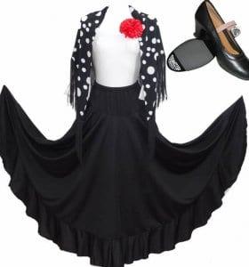 conjunto para el baile de Flamenco
