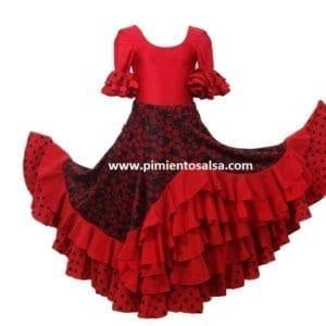 Falda de flamen,co mujer