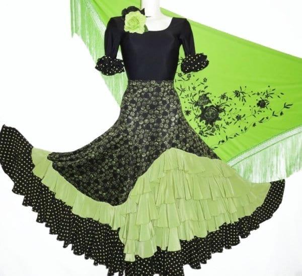 Falda de escenario para el Flamenco