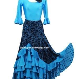 Falda de flamenco para mujer