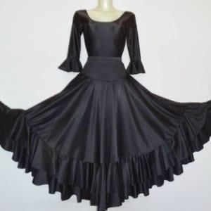 Falda de flamenco 2 volantes