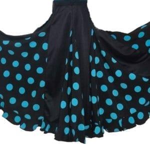 Falda flamenco con grande lunares