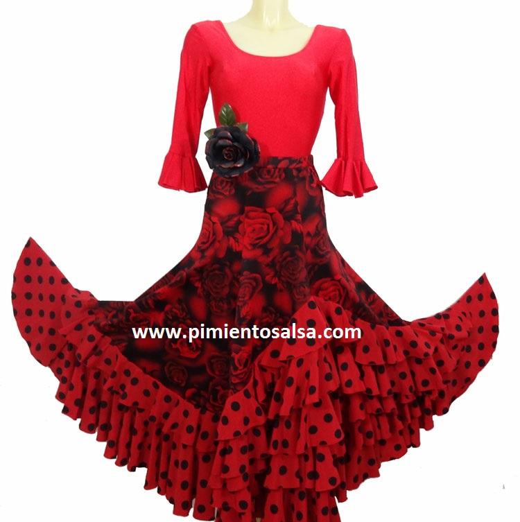 Falda de Flamenco con flores
