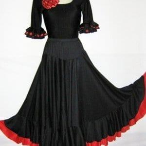 Falda flamenco mujer