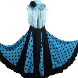 vestido de Flamenco azul