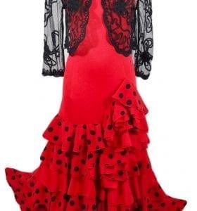 Vestido espectacular para el baile de Flamenco