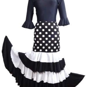 Falda de Flamenco 3 volantes