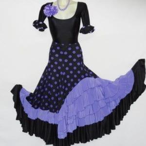 Esplendida falda de flamenco