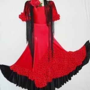 Falda de mujer para el baile Flamenco