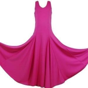 Vestido para el baile Flemenco fucsia liso