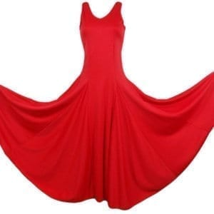 Vestido de Flamenco rojo liso para  niña